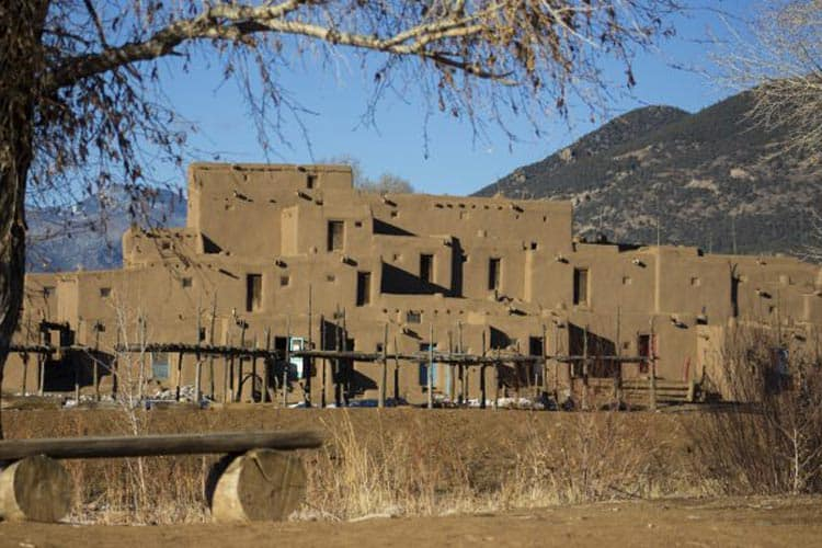 The multi-story, adobe structures have been home to the people of the Taos Pueblo for 1,000 years. Photo by Sterling Stowe