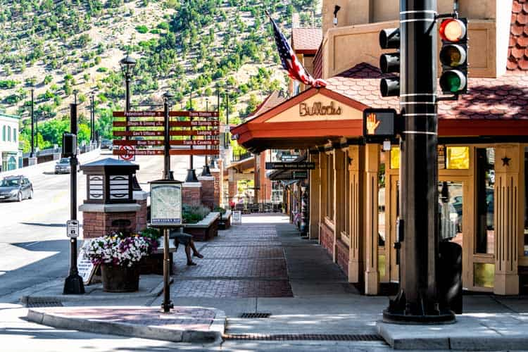 The town in Glenwood Springs, CO