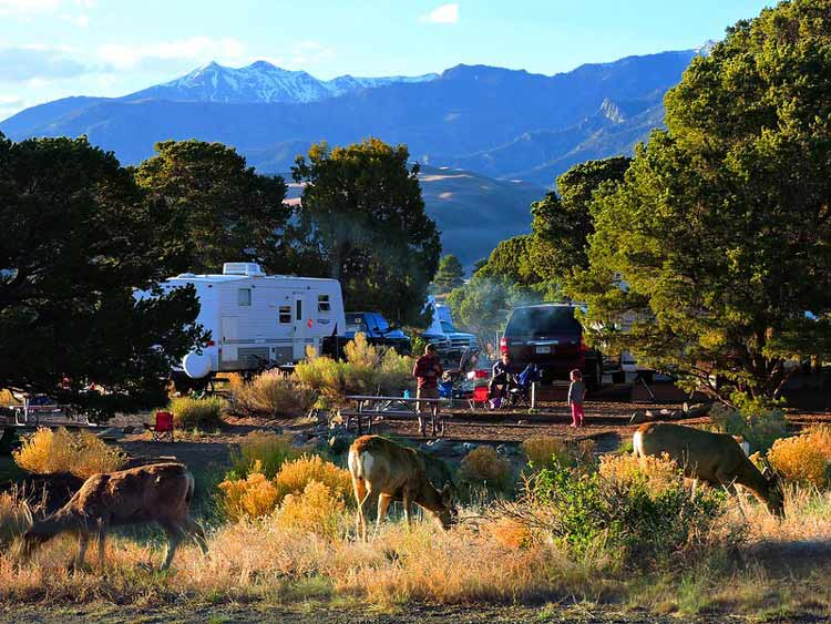 Piñon Flats Campground is the only campground in the park. CC Image by Great Sand Dunes National Park & Preserve/Patrick Myers