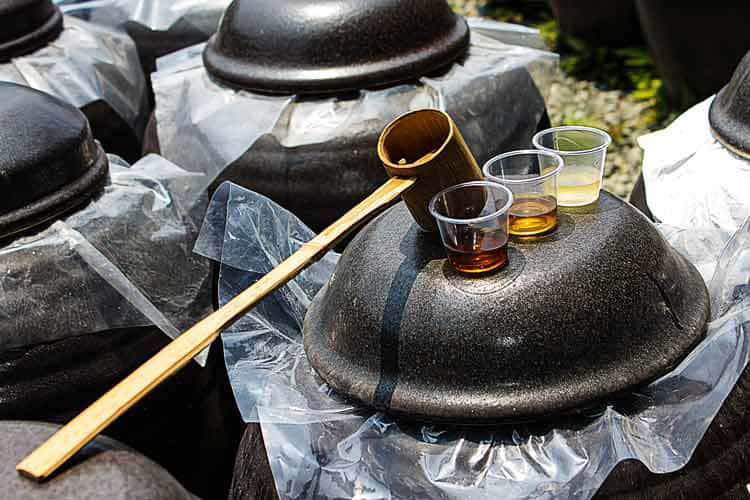 Kurozu black vinegar in Kagoshima. Photo by Dermot Killoran/Calderwood Images