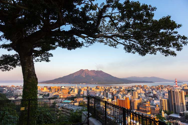 Sakurajima, the active volcano is just 15 minutes from Kagoshima by ferry. Photo by Keith Crowley at TOKYOFOTOS
