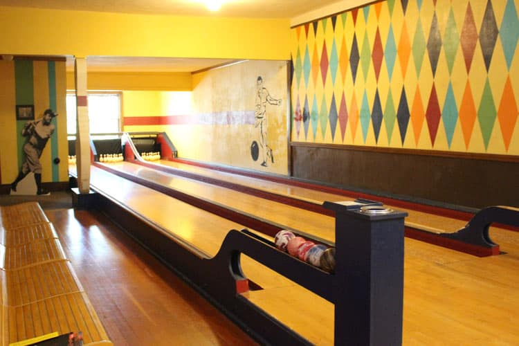 The historic Duckpin Bowling Alley, is a three-lane bowling alley that has been moved once and preserved since the 1920s or 1930s, the date is debatable, but the fact that it is a one-of-a-kind, west of the Mississippi, is not. Photo by Janna Graber