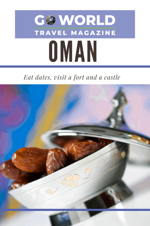 Kizwa, Oman: Ready for some dates in the Middle East? Take a trip to Oman to eat dates by themselves or in Hawla, visit a castle and a fort. #DatesInOman #OmanDates #OmanCastle #OmanFort