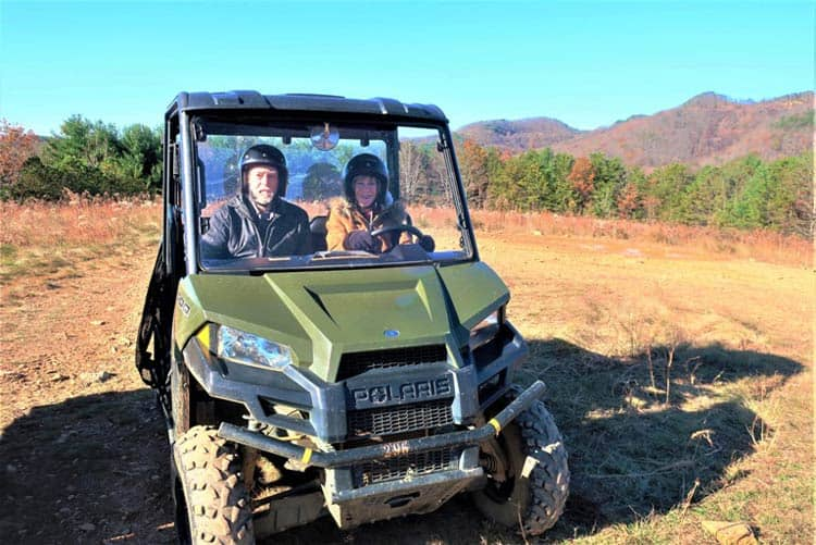 Riding an ATV is just one of the many exciting options at Virginia's Primland Resort. Photo by Victor Block