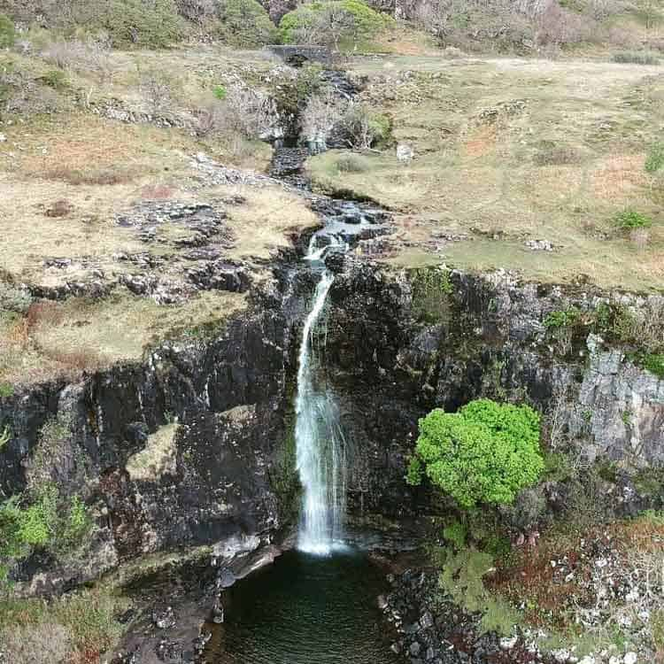 Eas Fors is a collection of waterfalls in Scotland
