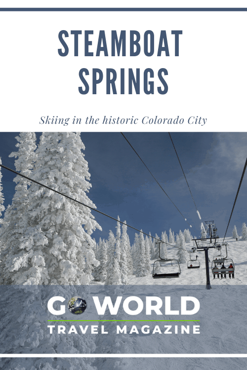 Want to ski like an Olympian in Colorado? Hit the slopes in Steamboat Springs, Colorado. #SkiingSteamboat #SteamboatSpringsSkiing #SteamboatSprings #skiing
