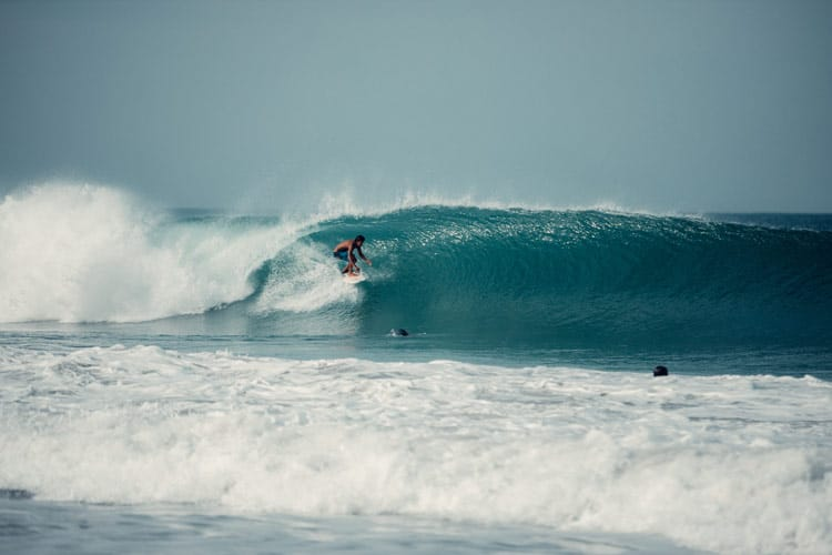 Surfing in Puerto Escondido, Mexico