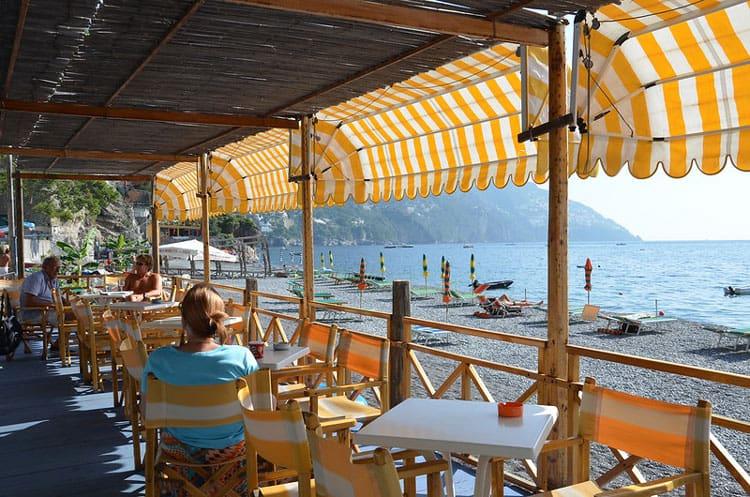 Amalfi restaurant on the beach