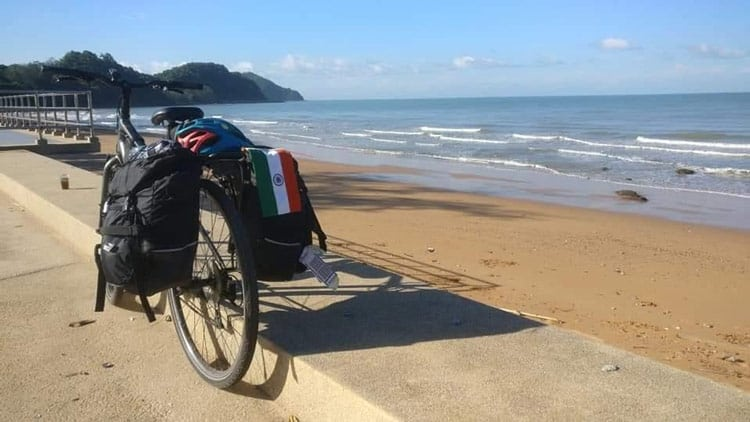 Cycling in the east coast of Thailand enroute Koh Chang Island.