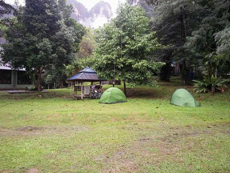 Camping in Klong Phanon National Park, Thailand.