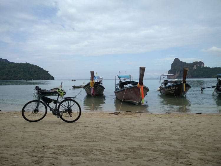 Photo shooting and relaxing in Phi Phi Island, Thailand.