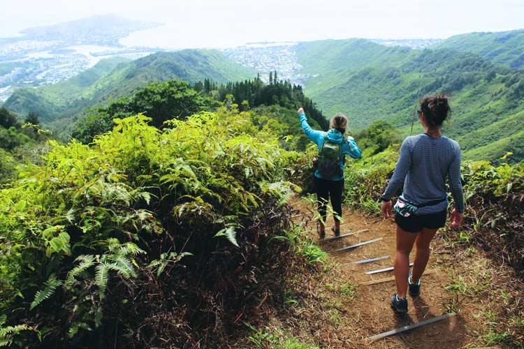 Hiking the mountains of Oahu, Hawaii