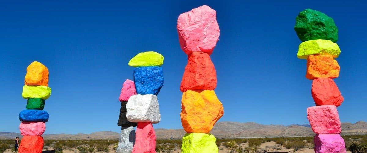 Seven Magic Mountain art installation in Las Vegas