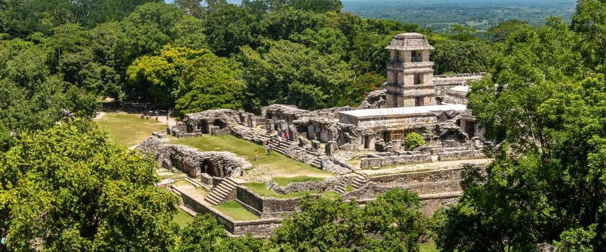Palenque ruins in Chiapas, Mexico