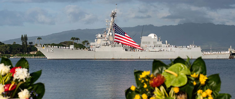 Fleet arrived at the Pearl Harbor National Memorial ceremony in Oahu