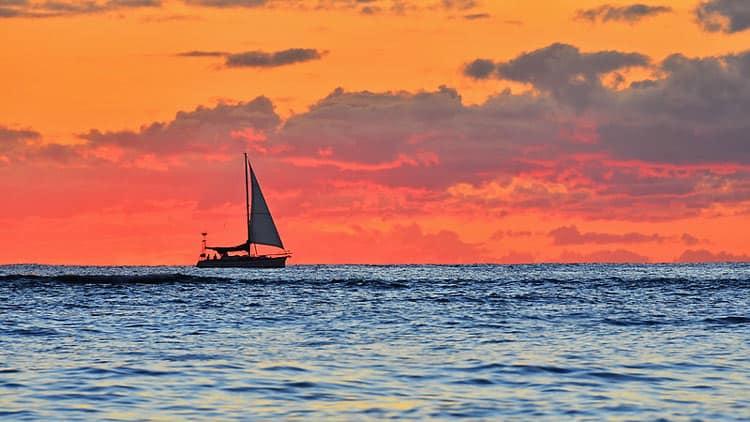 Sunset boat ride around the island