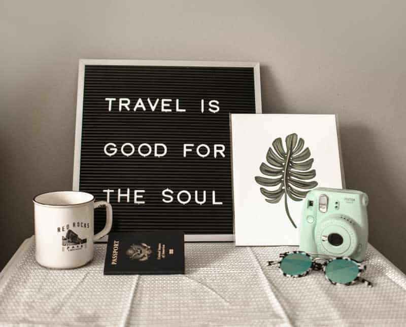 Travel quote: Travel is good for the soul