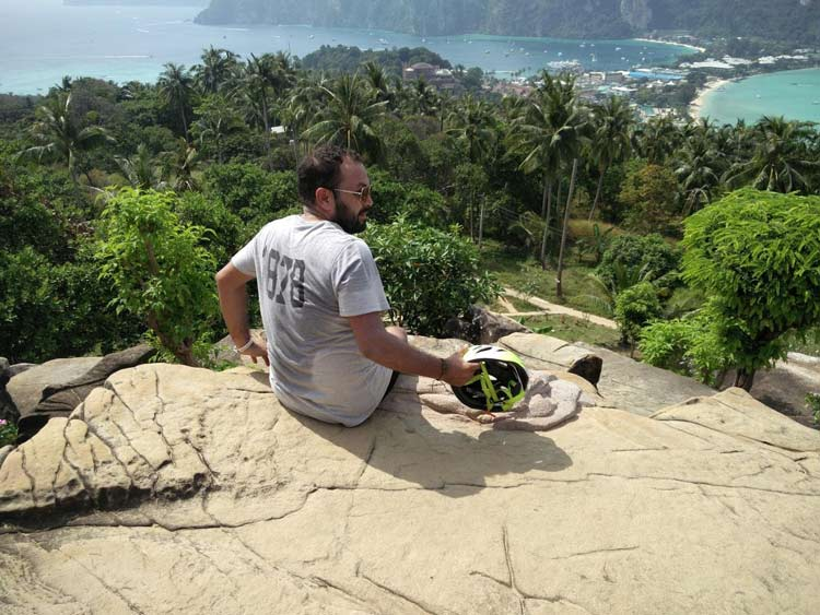 Relaxing at Phi Phi View Point, Thailand