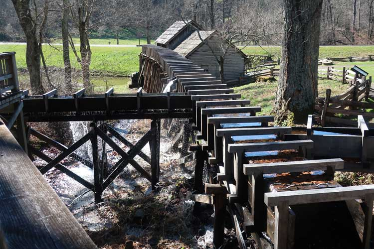 Flour has been ground at Mabry Mill in Patrick County, Virginia since 1905. Photo by Victor Block