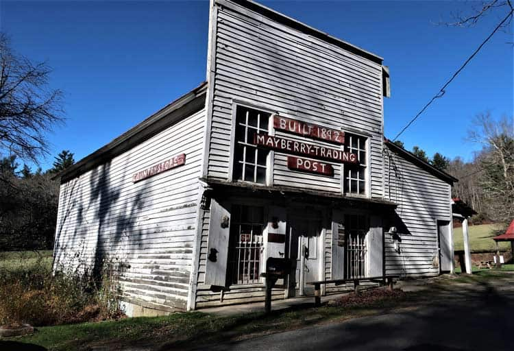 The Mayberry Trading Post in Patrick County, Virginia has been a general store and post office since 1892.  Photo by Victor Block