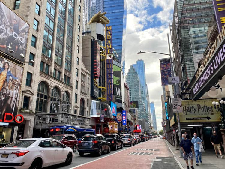 Busy 42nd Street is a must on a New York City Tour