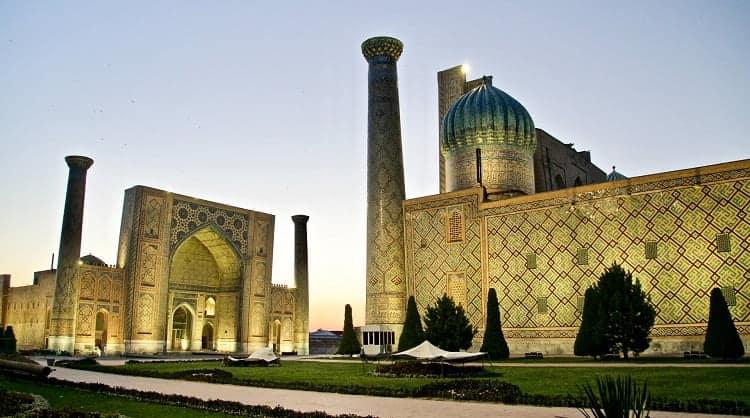 Astonishing night view of Uzbekistan