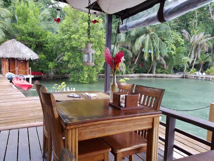 Dining in Bocas del Toro. Photo by Angie Falor