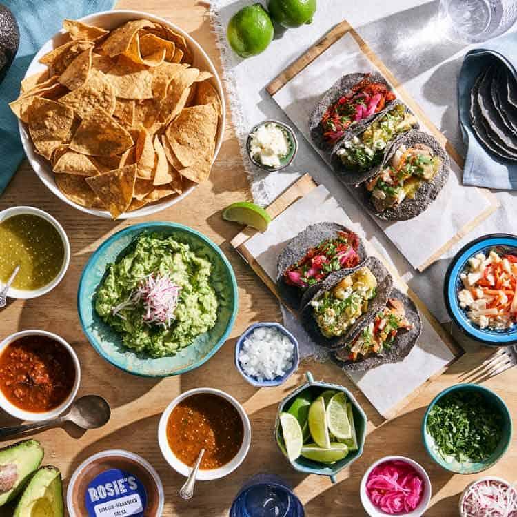 Get a Cinco de Mayo spread from Rosie's. Photo courtesy of Baldor Specialty Food