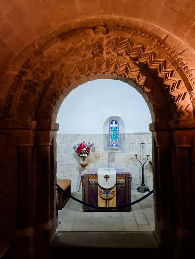 Interior of St Margaret's Castle in Edinburgh Castle, Scotland