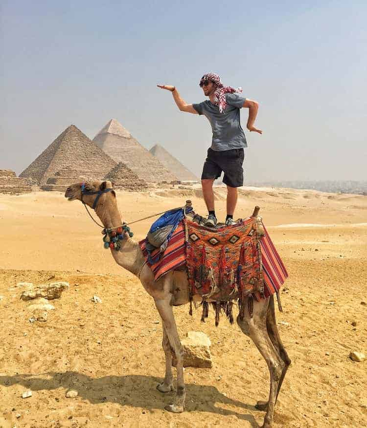 He is having fun at Egypt