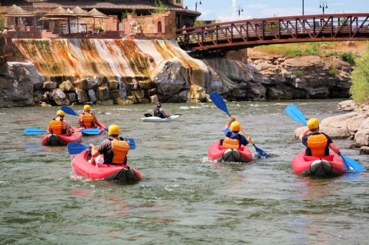 One of the fun things to do in Pagosa Springs is kayaking, tubing and rafting the San Juan River, located in the heart of downtown. Photo: Visit Pagosa Springs