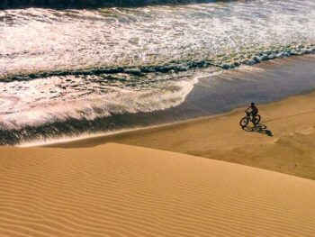 Kate Leeming cycling expedition in Namibia
