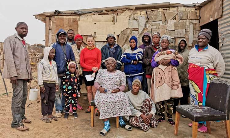 Family in Namibia's Skeleton Coast