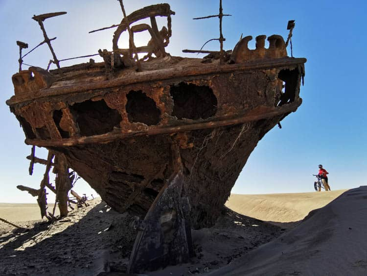 One of the shipwrecks along Namibia's Skeleton Coast.