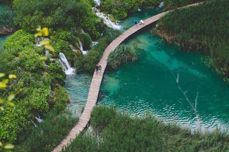 Plitvice Lakes National Park in Balkans