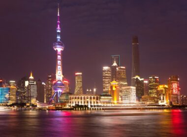 Shanghai is filled with vertical cities within cities, also known as skylines or skyscrapers. CC Image by 看见灰机灰了