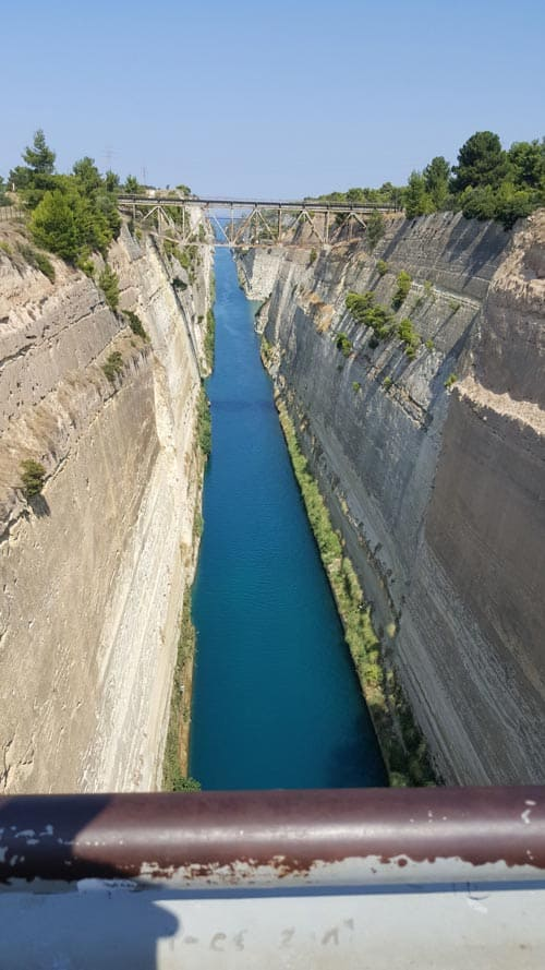 Corinith Canal in Greece. Photo by Gaverides