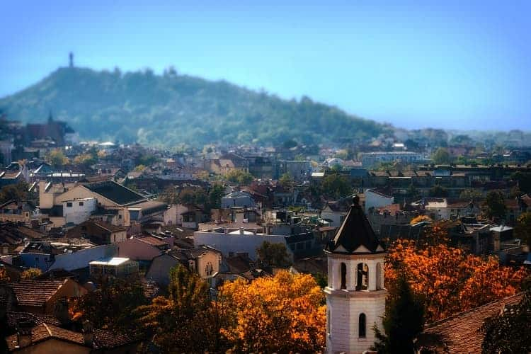 The ancient ruins of Plovdiv, Bulgaria