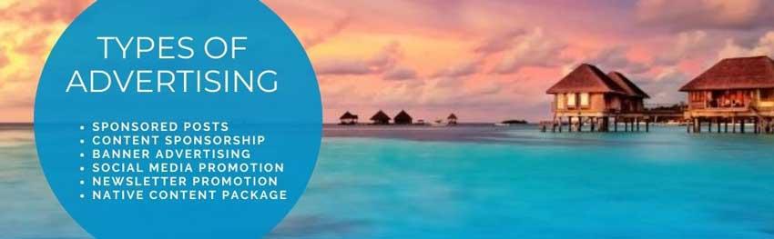Types of Travel Advertising on Go World Travel Magazine