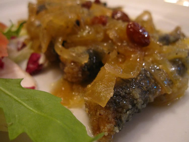Italian delicacy, sarde in saor. CC Image by Kate Hopkins