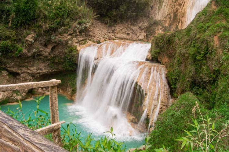 El Cascade de Chiflon in the Chiapas mountains