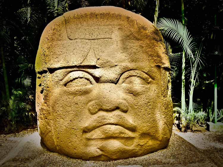 Ruins in the Olmec city in Mexico