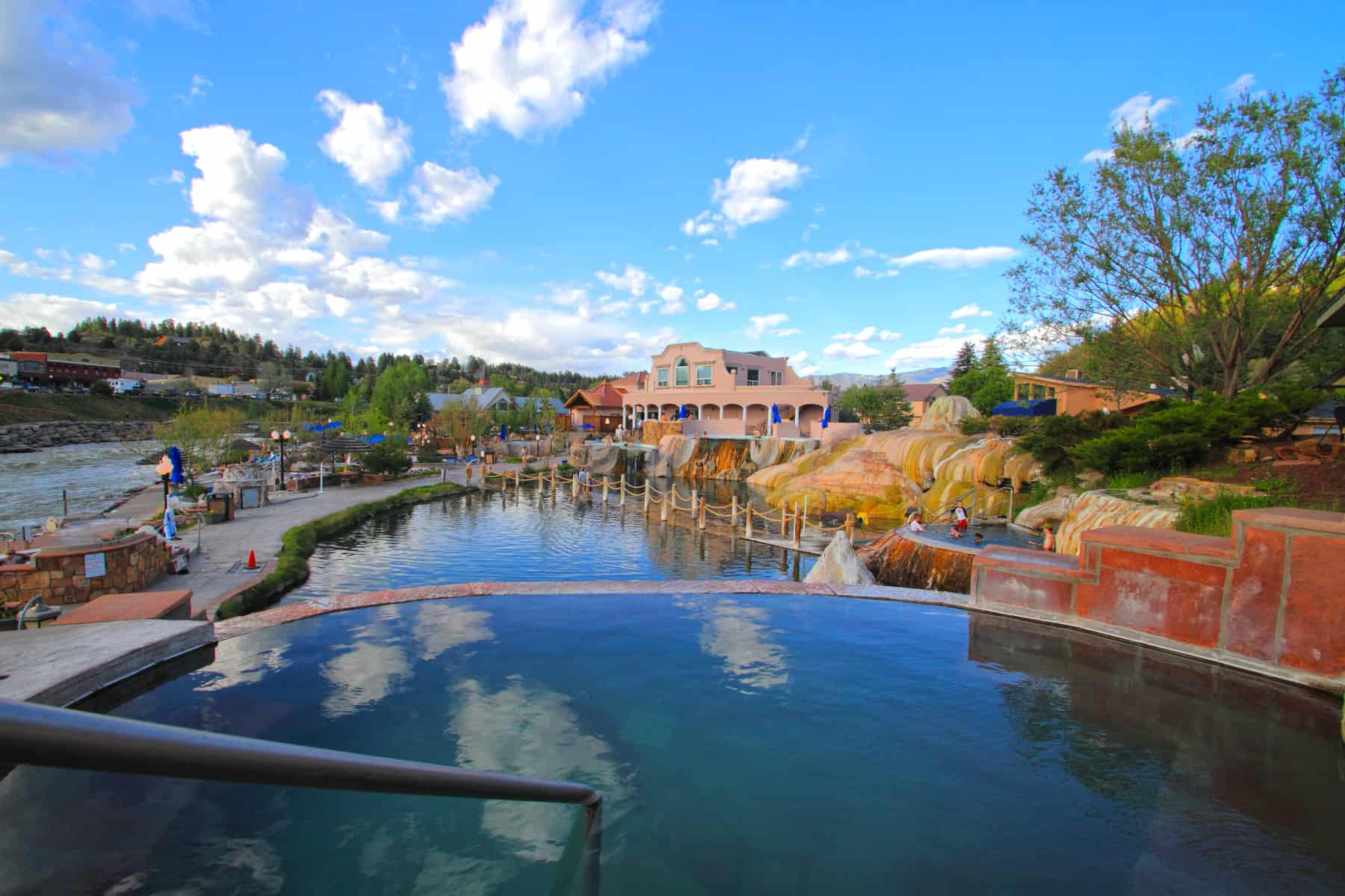 One of the most popular ways to play outdoors in Pagosa Springs is in their hot Spings. Photo: Visit Pagosa Sp