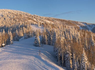 Ski olympic grade slopes in Steamboat Springs, Colorado.
