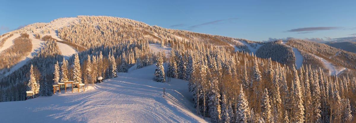 Ski olympic grade slopes in Steamboat Springs, Colorado.