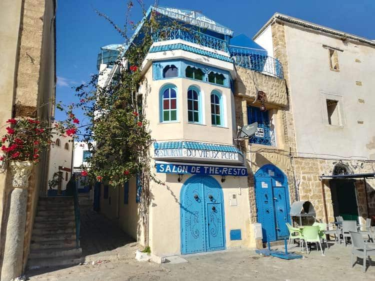 Colorful city streets in Tunisia