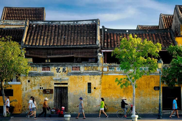 Streets of Hoi An in Vietnam