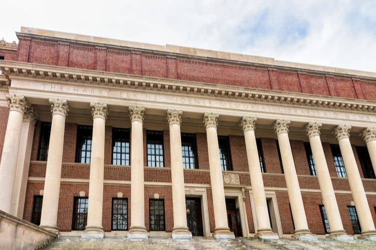 Visiting Widener Library is one of the things to do in Cambridge, MA