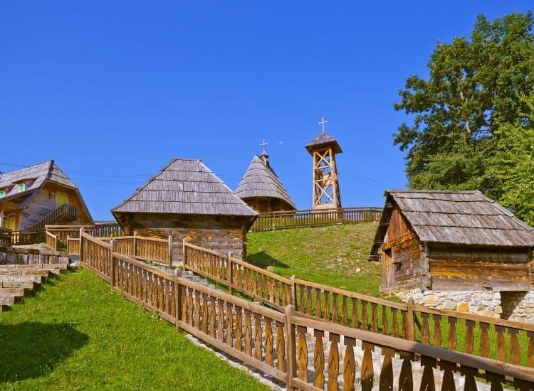The unique wooden town of Drvengrad, Serbia