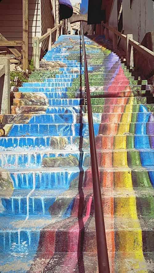 Downtown Stair Art in downtown Eureka Springs.